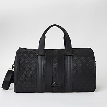 Black RIR monogram holdall bag