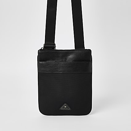 Black MCMLX cross body flight bag