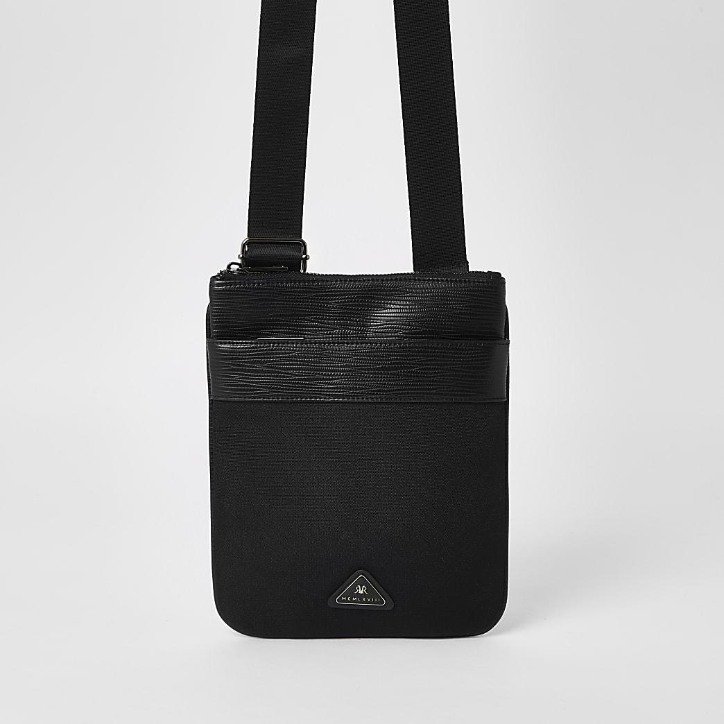 Black MCMLX cross body flight bag