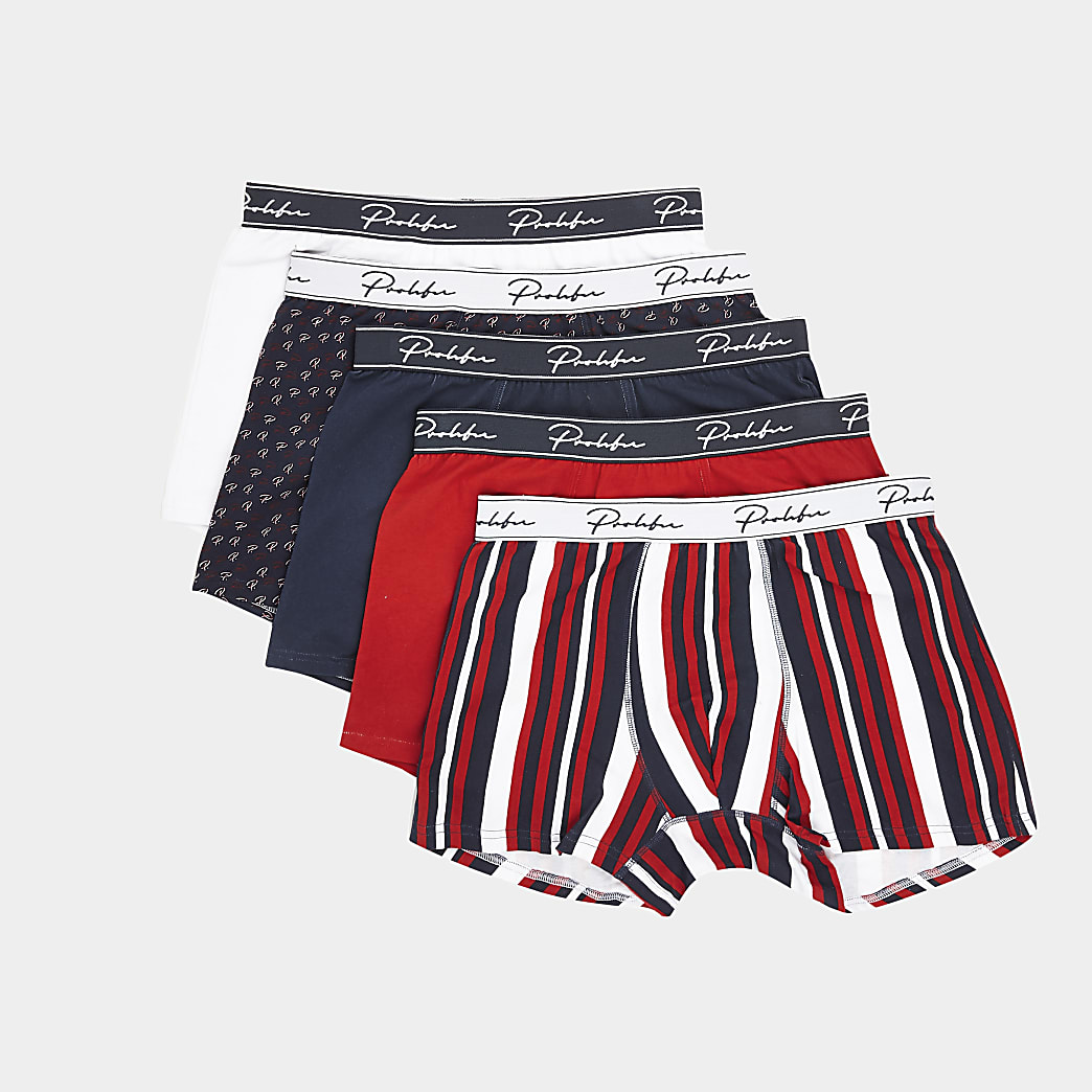 Prolific red trunks 5 pack