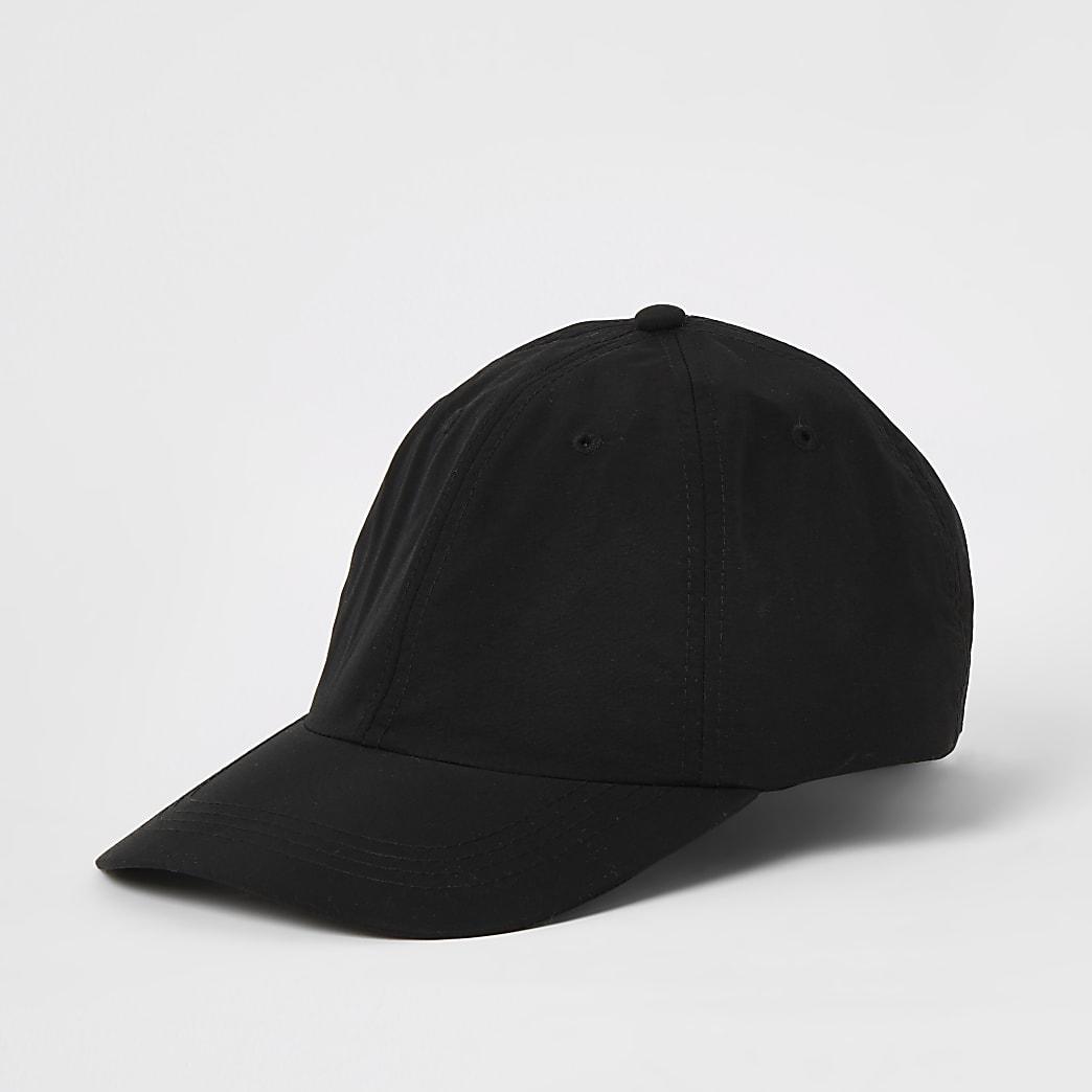 Zwarte honkbalpet met clipsluiting achter
