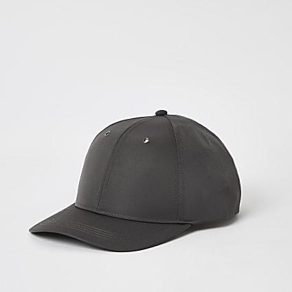 Maison Riviera grey nylon cap