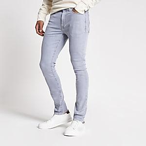 Danny – Graue Super Skinny Jeans