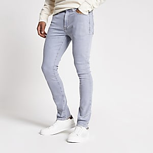Danny - Grijze superskinny jeans