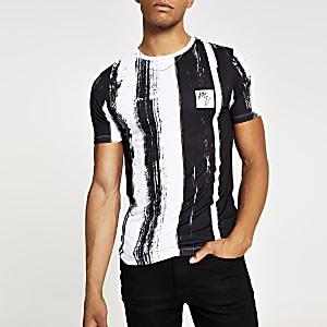 T-shirt Maison Riviera imprimé blanc idéal pour les musclés