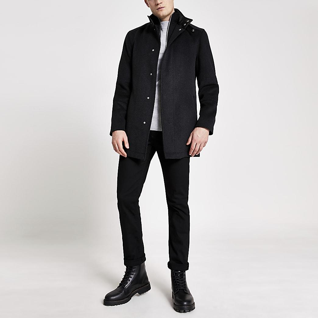 Manteau long gris foncé