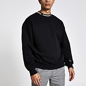 Prolific – Schwarzes Boxy Fit Sweatshirt