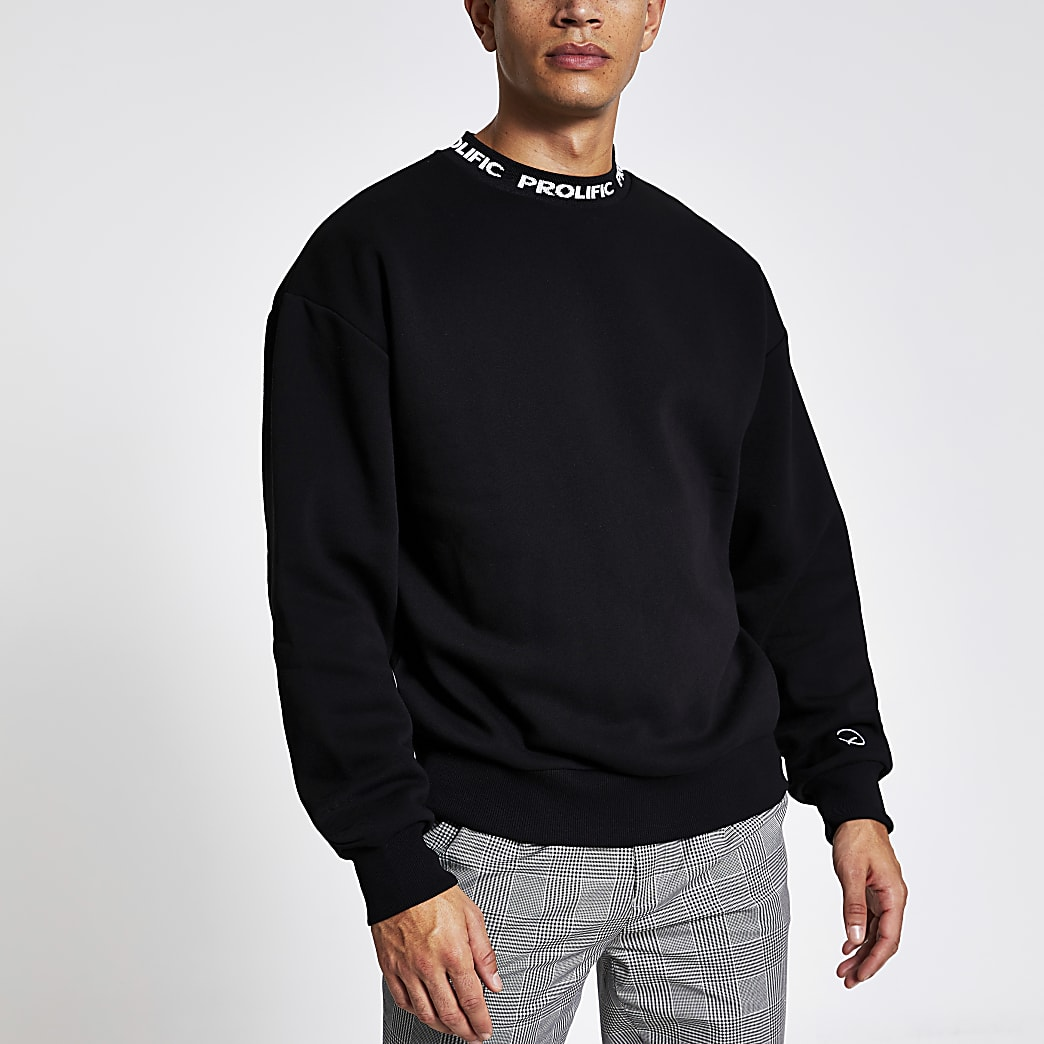 Prolific black boxy fit sweatshirt