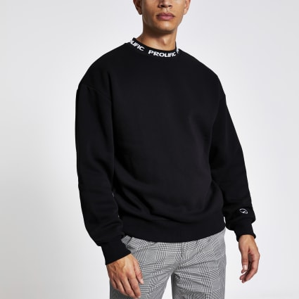 Black Prolific boxy fit sweatshirt