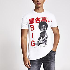 T-shirt met korte mouwen met Notorious B.I.G.-print