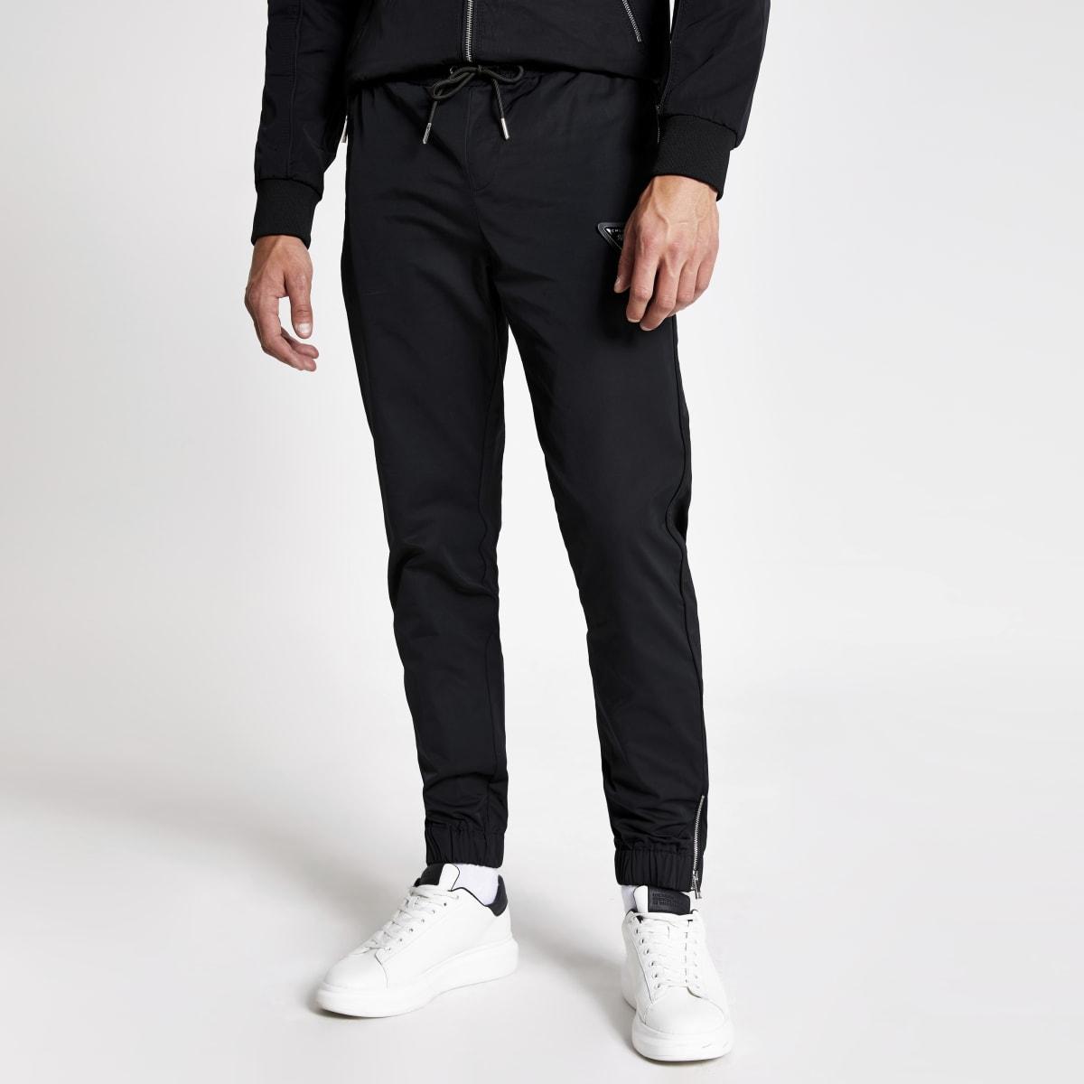 "Schwarze Jogginghose ""MCMLX"" aus Nylon"