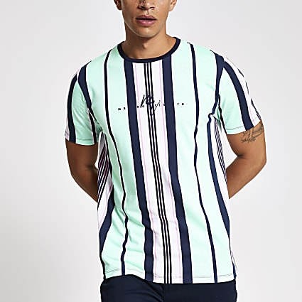 Green stripe Maison Riviera T-shirt