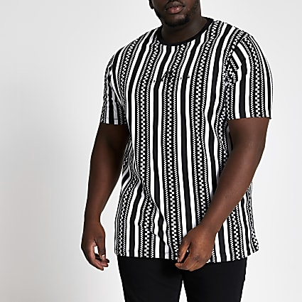 Big and Tall black Maison slim fit T-shirt