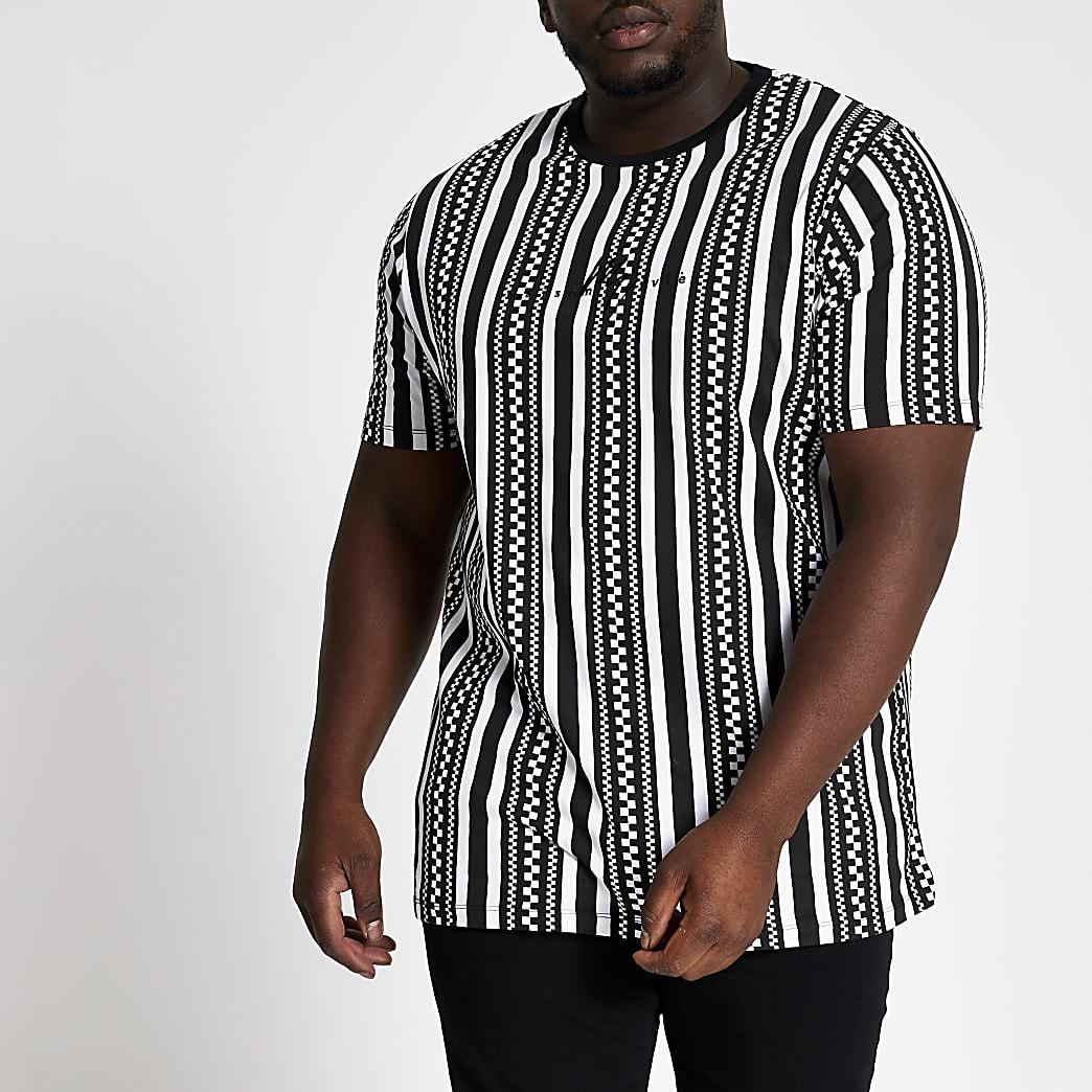 Big and Tall - Maison - Zwart slim-fit T-shirt