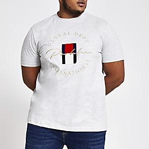 Big & Tall – Prolific – Graues Slim Fit T-Shirt