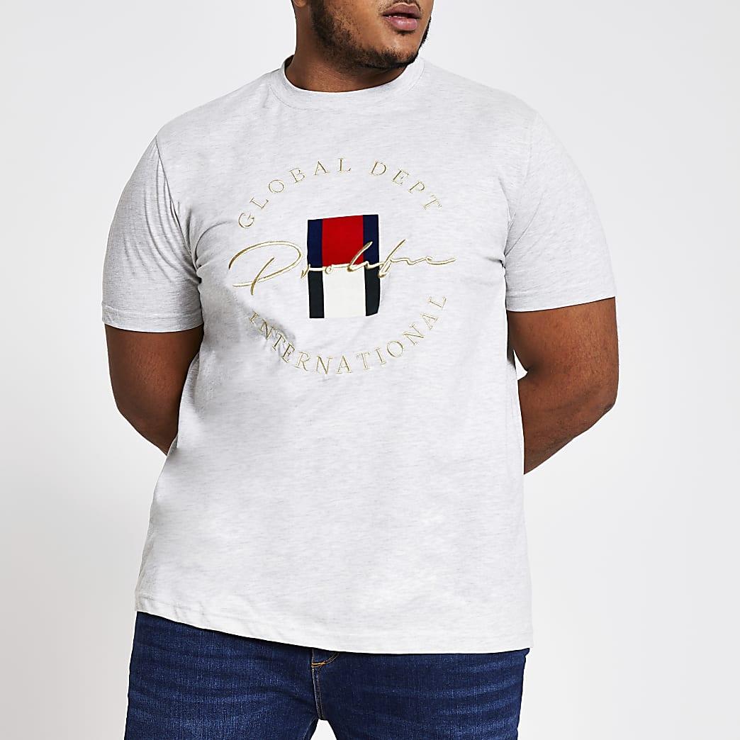 Big and Tall – T-shirt slim Prolific gris