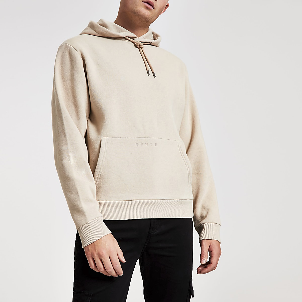Stone Svnth embroidered hoodie