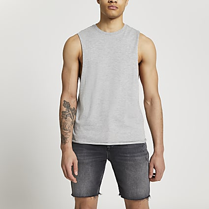 Grey tank vest