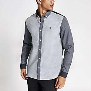 MaisonRiviera- Blauw T-shirt met kleurvlakken