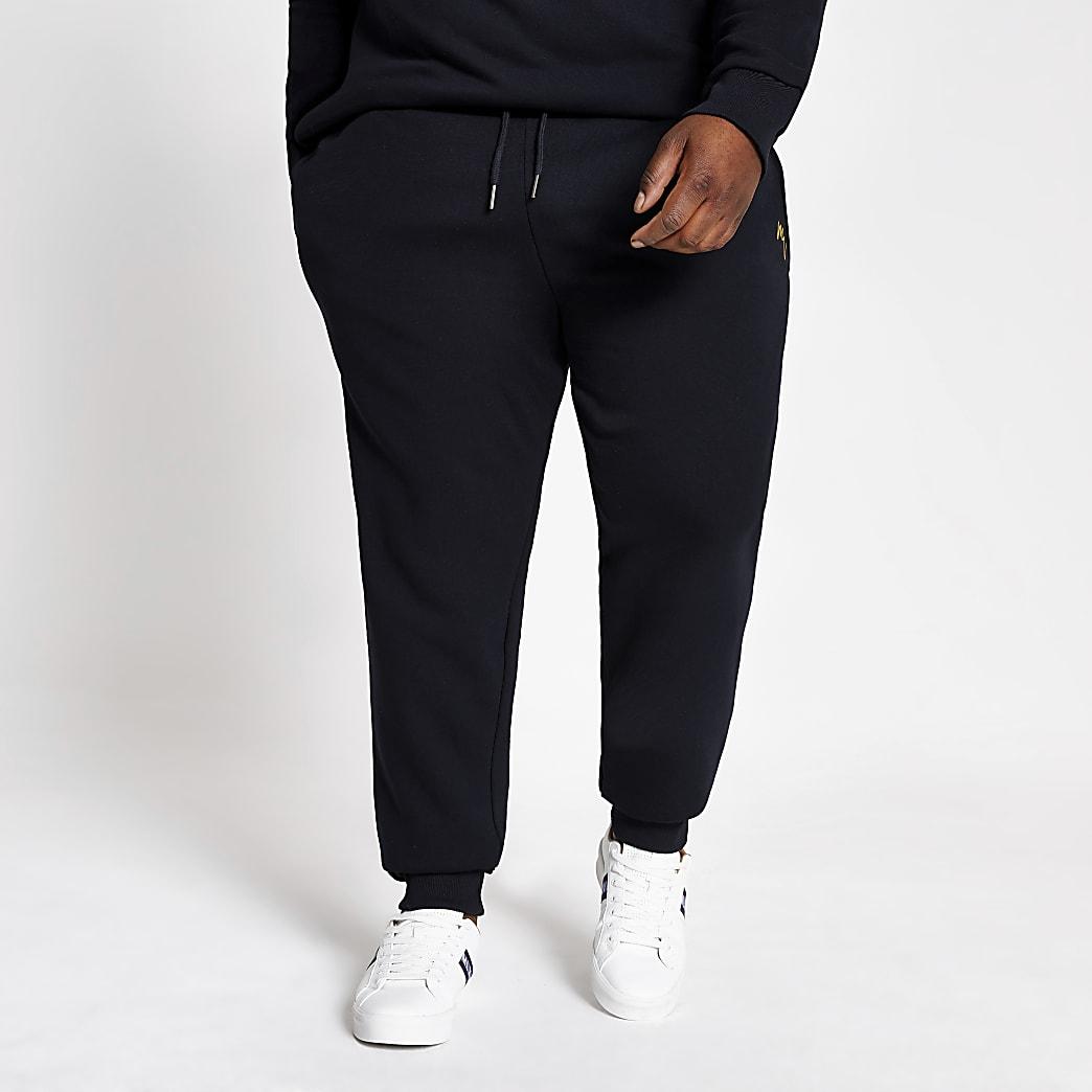Big and Tall – Pantalon de jogging Maison Riviera bleu marine