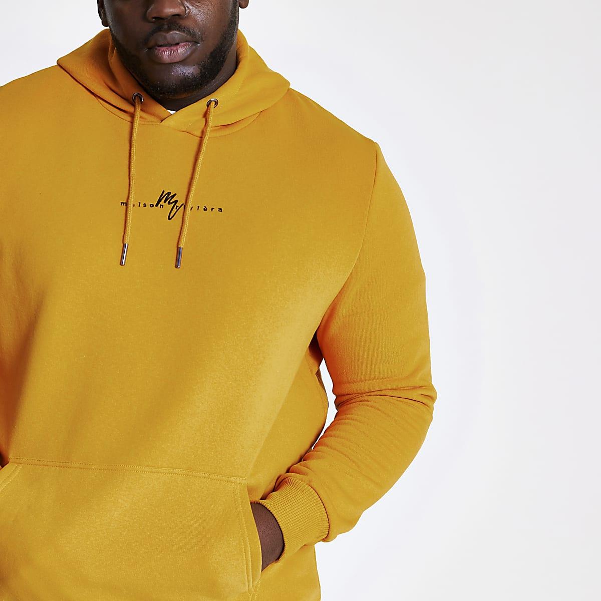 Big and Tall – Sweat à capuche «Maison Riviera» jaune