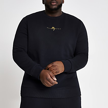 Big and Tall navy Maison Riviera sweatshirt