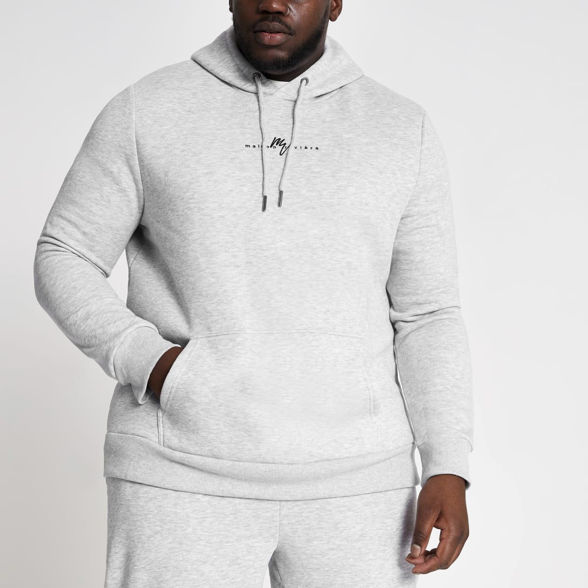 Big and Tall grey Maison Riviera hoodie