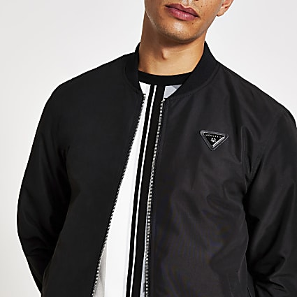 Black MCMLX bomber jacket