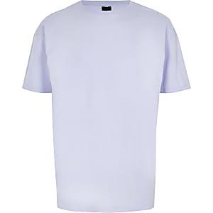 Light purple oversized short sleeve T-shirt