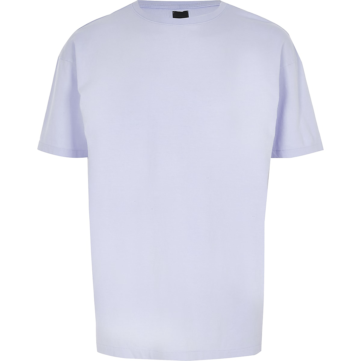 Light purple oversized short sleeve T-shirt
