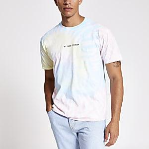 White pastel tie dye T-shirt