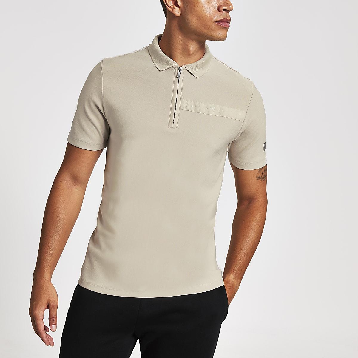 Stone Maison Riviera tape polo shirt