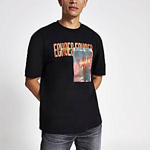 T-shirt oversize« Echos » noir