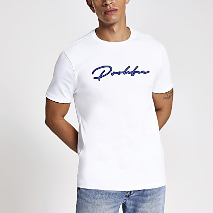 White Prolific embroidered slim fit T-shirt
