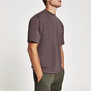 Scuba-T-Shirt im Oversized-Look in Lila