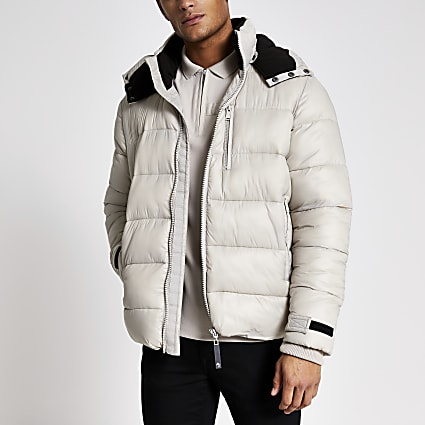 Grey Maison Riviera tape padded jacket