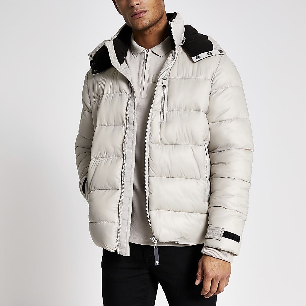 Maison Riviera grey tape padded jacket