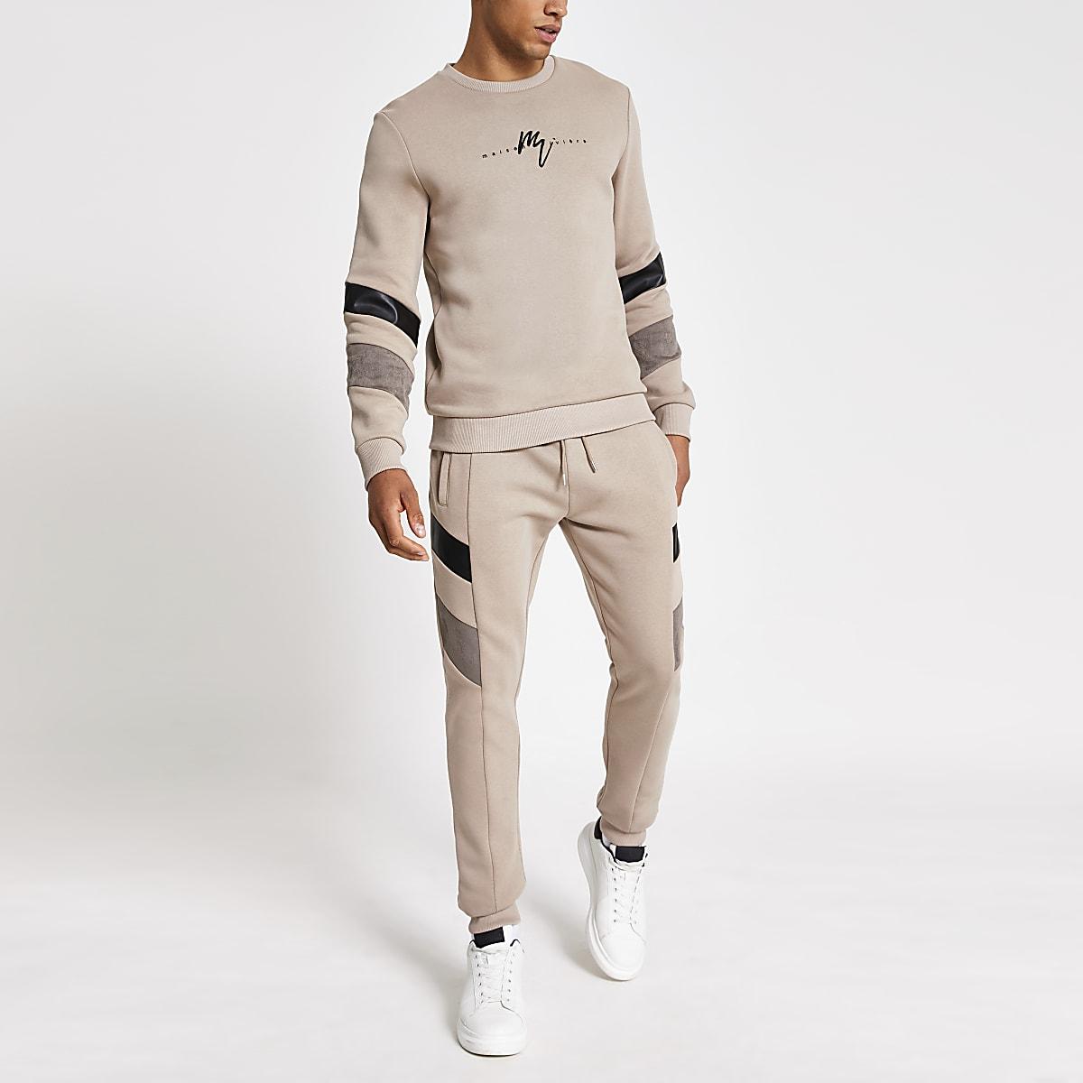 Stone blocked Maison Riviera sweatshirt
