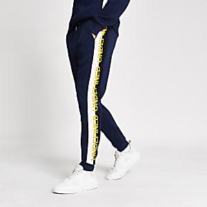 Pantalon de jogging Undefined brodé bleu marine