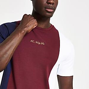 T-shirt slim colour block R96 rouge