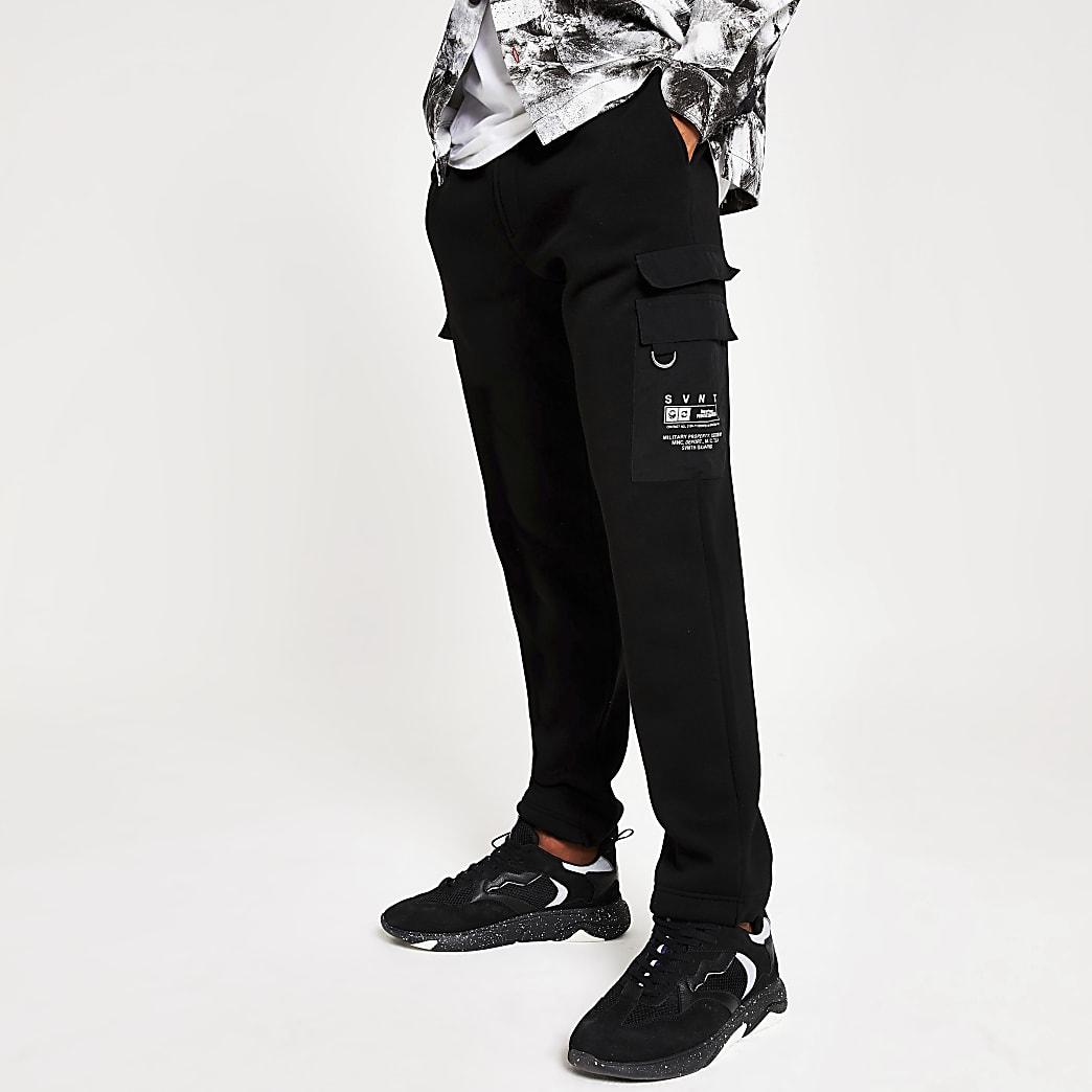 Zwarte SVNTH utility joggingbroek met normale pasvorm
