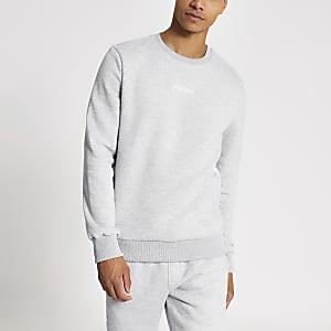 """Graues Sweatshirt mit """"Undefined""""-Stickerei"""