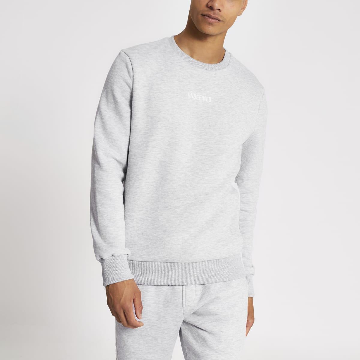 Grijs sweatshirt met Undefined-borduursel