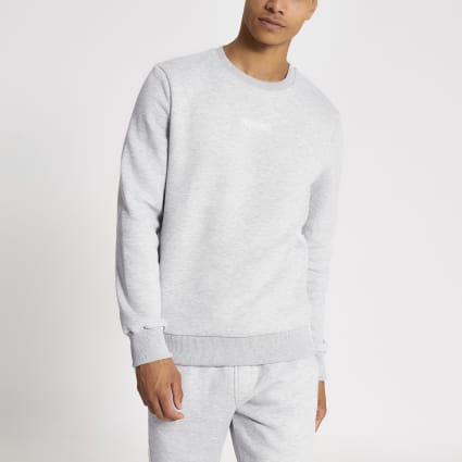 Grey Undefined embroidered tape sweatshirt