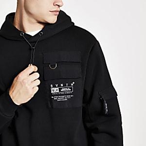 Sventh - Zwarte utility hoodie