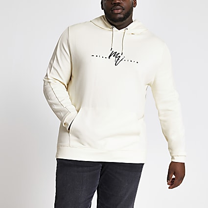 Big and Tall slim fit Maison Riviera hoodie