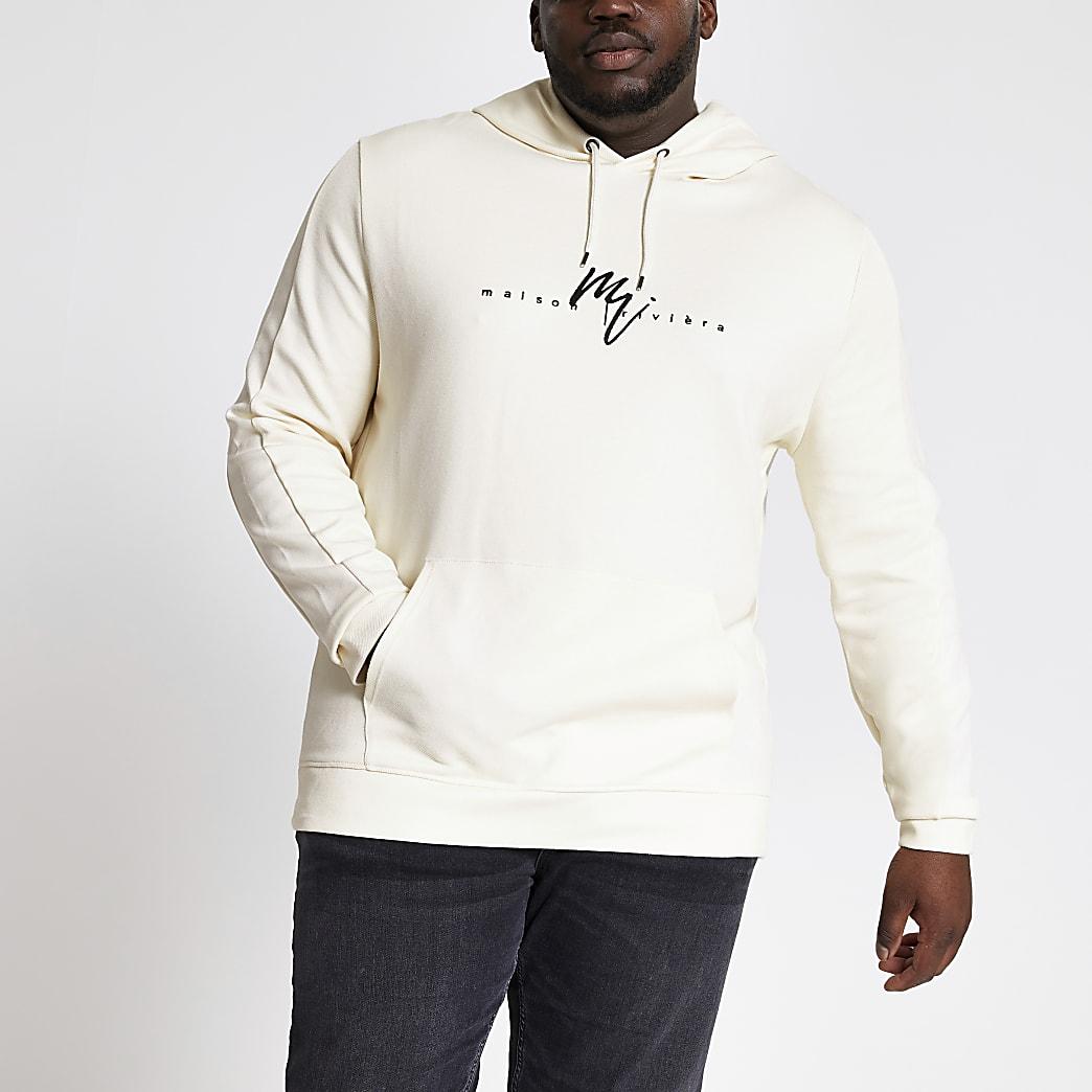 MaisonRiviera- Big and tall slim-fit hoodie