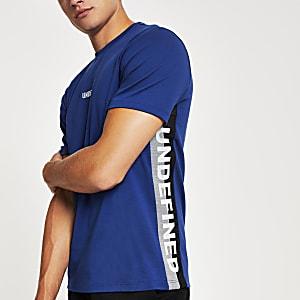 "T-Shirt ""Undefined"" im Slim Fit in Marineblau"