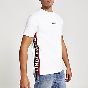 """Weißes Slim Fit T-Shirt """"Undefined"""""""