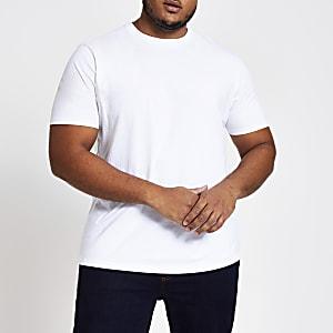 Big and Tall - weißes T-Shirt